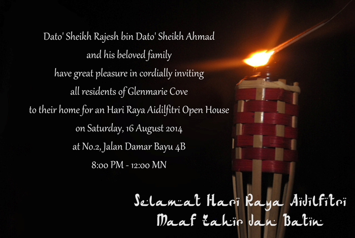 Raya open house invitation message inviview hari raya aidilfitri open house glenmarie cove residents and stopboris Images
