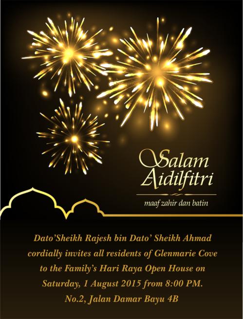 Dato Sheikh 2015 raya open house